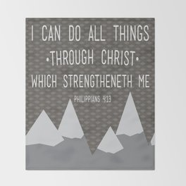 I CAN // Philippians 4:13 Throw Blanket