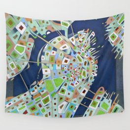 city map Wall Tapestry