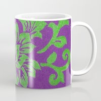 floral pattern Mugs featuring Floral Pattern by Marjolein