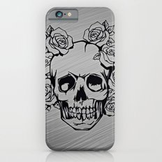 Skull with roses, silver iPhone 6s Slim Case