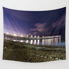 Ventura pier, CA. night landscape Wall Tapestry