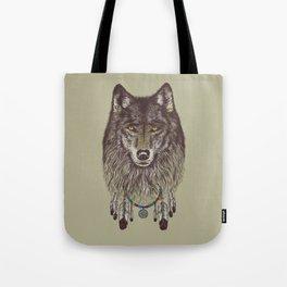 Wind Catcher Wolf Tote Bag