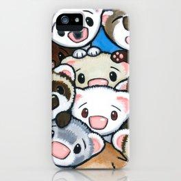 16 Ferrets iPhone Case