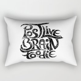 Post-Live  Brain-Foodie Rectangular Pillow