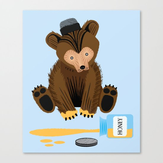The Honey Bear Canvas Print