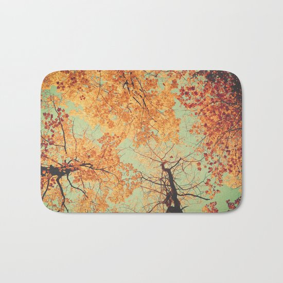 Autumn Inkblot - Yellow Bath Mat