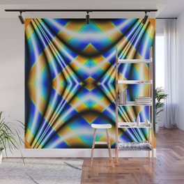 Drape - Blue Wall Mural