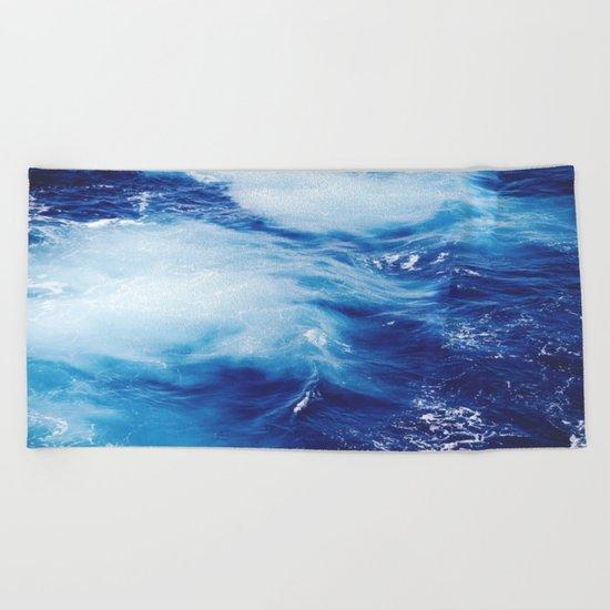 Deep Blue Ocean Beach Towel