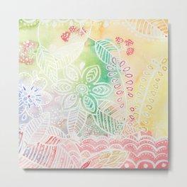 Florarl pattern Metal Print