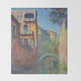 Rio della Salute by Claude Monet Throw Blanket