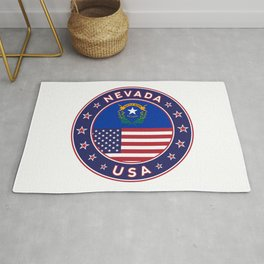 Nevada, USA States, Nevada t-shirt, Nevada sticker, circle Rug