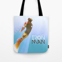 iron maiden Tote Bags featuring Iron by Ed Burczyk