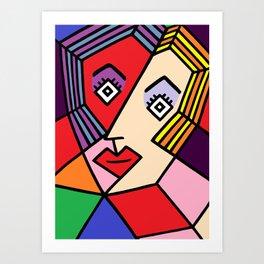 Abstract Girl Art Print