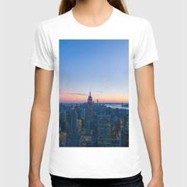 New York Cityscape VIew (Color) T-shirt