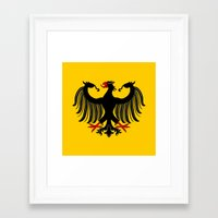 german Framed Art Prints featuring German Eagle by Richard Fay
