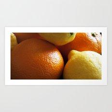 Oranges & Lemons Art Print