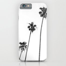Black + White Palms iPhone Case