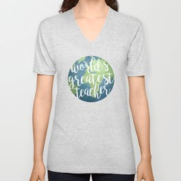 World's Greatest Teacher Unisex V-Neck