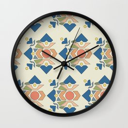 Hearts Geometric, Soft Palette Wall Clock