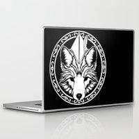 robin hood Laptop & iPad Skins featuring Foxin Hood by AdamAether