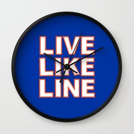 LIVE LIKE LINE Volleyball Wall Clock
