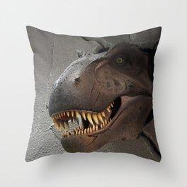 Dinosaur crush Throw Pillow