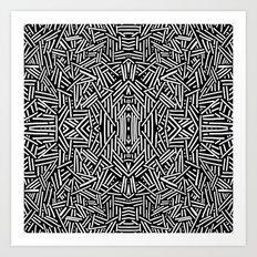Radiate (BW) Art Print