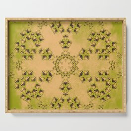 Hay Bales Mandala Serving Tray