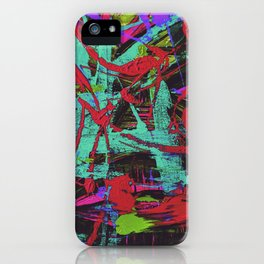 Monster in the paint iPhone Case