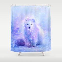 Arctic iceland fox Shower Curtain