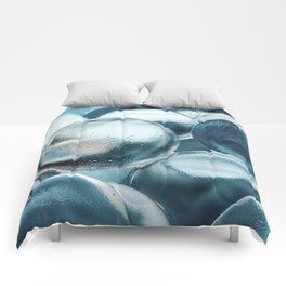 Blue Water Marbles Comforters