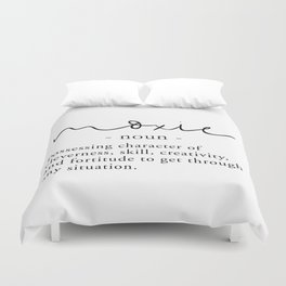 Moxie Definition - Minimalist Black Duvet Cover