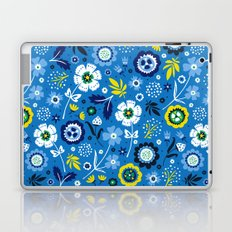 Folk Flowers (Blue) Laptop & iPad Skin