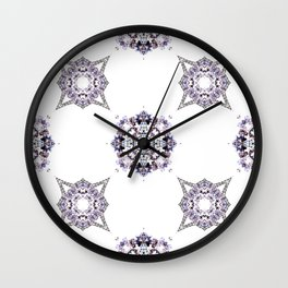 Pret A Porter Purple Pattern Wall Clock