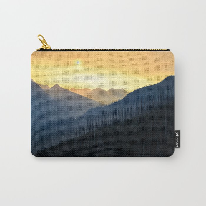 Sunrise Over Mountains Carry-All Pouch
