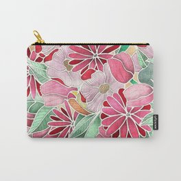 Blossoming - a hand drawn floral pattern Carry-All Pouch
