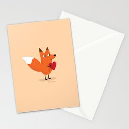 Fox & Duck - I Give You My Heart Stationery Cards