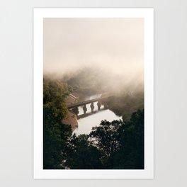 Misty morning. Art Print
