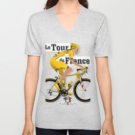 Tour De France cycling grand tour Unisex V-Neck