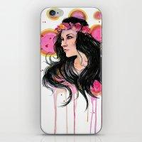 annie hall iPhone & iPod Skins featuring Annie by Alina Rubanenko