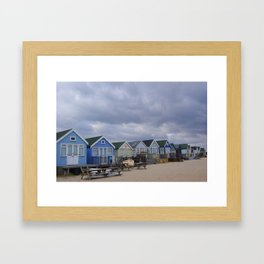Beach huts Framed Art Print