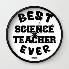 Teachers science research physics Gift Wall Clock