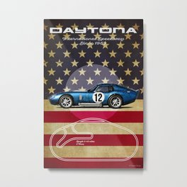 Daytona Racetrack Vintage Metal Print