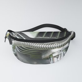 Vintage Chrome and Steel Motorcycle Engine Fanny Pack