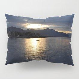 boat at sunset Pillow Sham