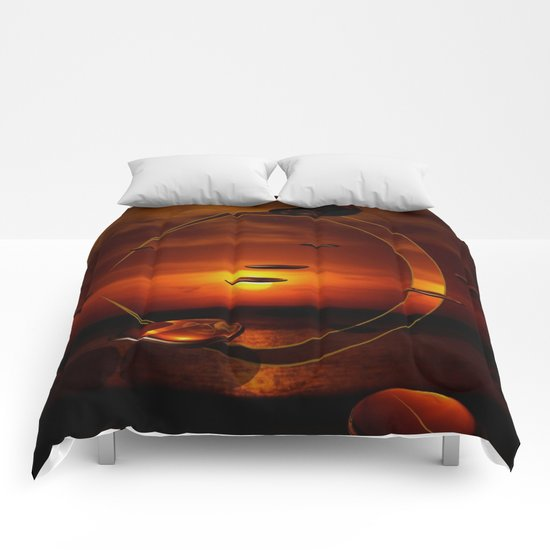 Exploding Sunset Comforters