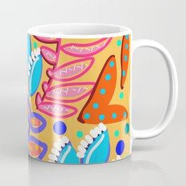 Whimsical Leaves Pattern Coffee Mug