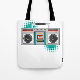 Never Forget Retro Vintage Cassette Player Boom Box Graphic Tote Bag