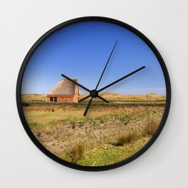 Traditional sheep barn on the island of Texel, The Netherlands Wall Clock