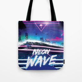 Synthwave: Neon Wave Tote Bag